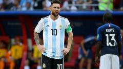 Indosport - Lionel Messi, pemain megabintang Timnas Argentina.