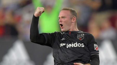 Selebrasi Wayne Rooney kala  cetak gol untuk DC United - INDOSPORT