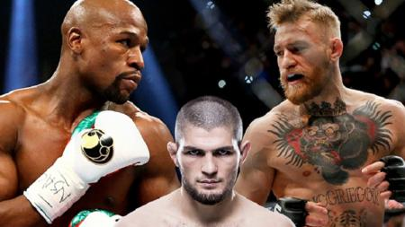 Khabib, McGregor, dan Floyd Myweather. - INDOSPORT