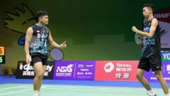 Indosport - Wahyu Nayaka/Ade Yusuf akan menghadapi pasangan Thailand yang pernah mengalahkan Kevin Sanjaya/Marcus Gideon, Kittisak Namdash/Nipitphon Phuangphuapet, di perempatfinal SEA Games 2019.