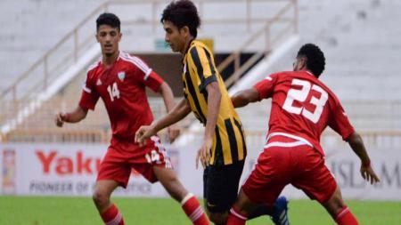 Timnas Malaysia U-16 versus Uni Emirat Arab. - INDOSPORT