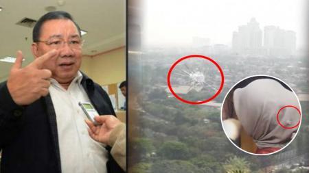 Anggota DPR dari Fraksi Gerindra Brigjen (Purn) Wenny Warouw dan ruang kerjanya di DPR RI, Senayan, Jakarta, yang kena peluru nyasar, Senin (15/10/18). - INDOSPORT