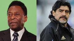 Indosport - Legenda Brasil, Pele, berharap bisa bermain sepak bola dengan mendiang Diego Maradona di surga.