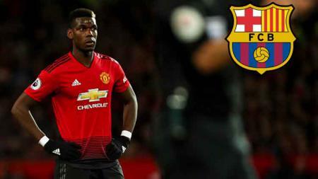 Paul Pogba dikabarkan segera berlabuh ke Barcelona. - INDOSPORT