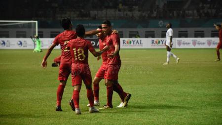 Selebrasi Pemain Indonesia vs Hong Kong. - INDOSPORT