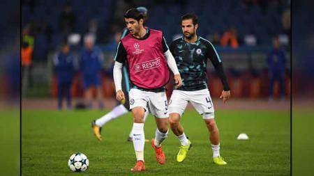 2 Bintang Chelsea, Alvaro Morata (kiri) dan Cesc Fabregas - INDOSPORT