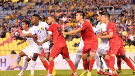 Timnas Malaysia vs Kirgistan. - INDOSPORT