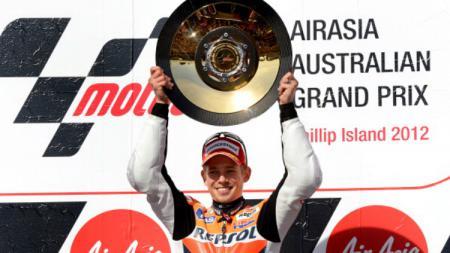 Casey Stoner saat masih di tim MotoGP Honda. - INDOSPORT