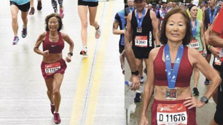 Jeannie Rice, nenek 70 tahun yang mencetak rekor di lomba maraton dunia - INDOSPORT