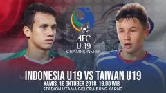 Indosport - Timnas Indonesia U-19 vs Chinese Taipei U-19.