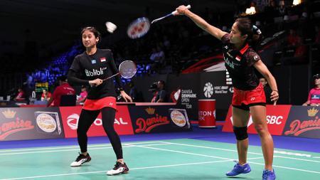 Rizki Amelia Pradipta/Ni Ketut Mahadewi Istarani berhasil melangkah ke perempatfinal Malaysia Open 2019 usai mengalahkan Greysia Polii/Apriyani. - INDOSPORT