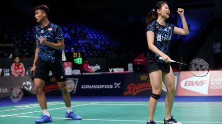 Ricky Karanda Suwardi/Debby Susanto saat berjibaku di Denmark Open 2018. - INDOSPORT