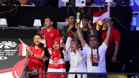 Pendukung Indonesia di Denmark Open 2018. - INDOSPORT