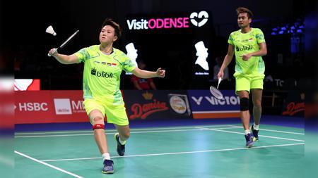 Tontowi Ahmad/Liliyana Natsir saat tampil pada Danisa Denmark Open 2018. - INDOSPORT
