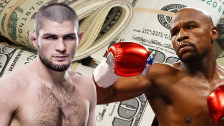 Mayweather menilai bertarung dengan Khabib bisa membuatnya mendapatkan uang yang banyak - INDOSPORT