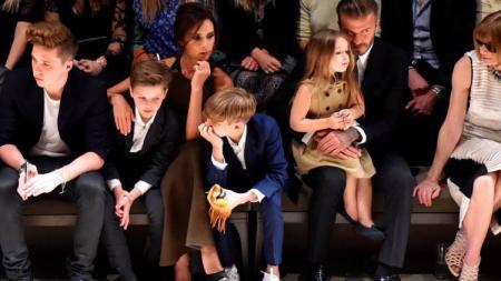 Keluarga David Beckham. - INDOSPORT