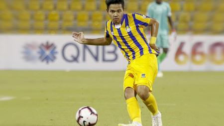 Kabar terkini Andri Syahputra, pemain Indonesia yang berkarier di Qatar, belakangan nampak melalui jalan kian terjal. - INDOSPORT