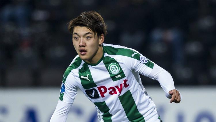 Ritsu Doan bermain dengan FC Groningen Copyright: Proshots