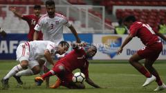 Indosport - Qatar U-19 (Merah) vs UEA U-19 (Putih).