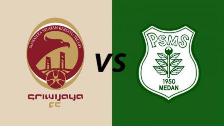 Ilustrasi logo Sriwijaya FC dan PSMS Medan - INDOSPORT
