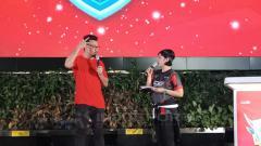 Indosport - Denny Sumargo dalam peresmian Liga e-Sport Indonesia.