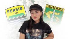 Indosport - Pemain film sekaligus penyanyi dangdut, Camelia Putri yang mengaku sebagai penggemar dari Persebaya dan Persib.