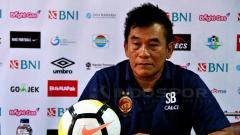 Indosport - Pelatih Sriwijaya FC dalam jumpa pers.