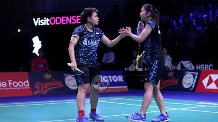 Greysia Polii/Apriyani Rahayu di ajang Denmark Open 2018. - INDOSPORT