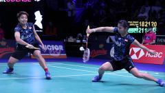 Indosport - Greysia Polii/Apriyani Rahayu di ajang Denmark Open 2018.