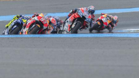 Ilustrasi balapan MotoGP. - INDOSPORT