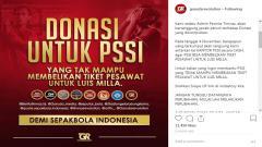 Indosport - Akun instagram @garudarevolution buat gerakan