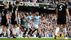 Indosport - Selebrasi Aguero dalam laga Liga Primer Inggris kontra Burnley.