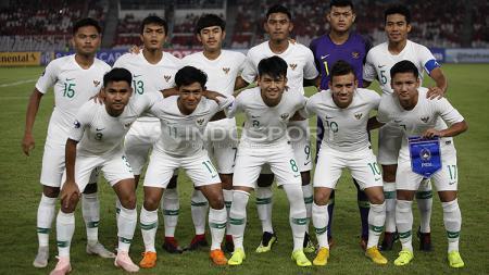 Skuat Timnas Indonesia U-19 jelang melawan Qatar U-19. - INDOSPORT