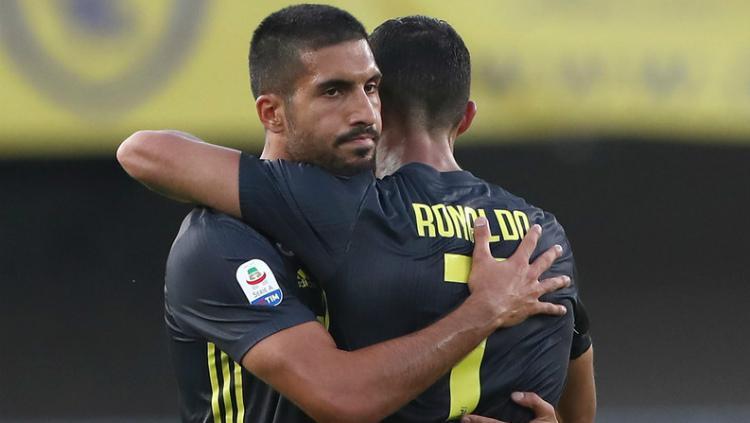 Emre Can dan Cristiano Ronaldo merayakan gol. Copyright: Getty Images