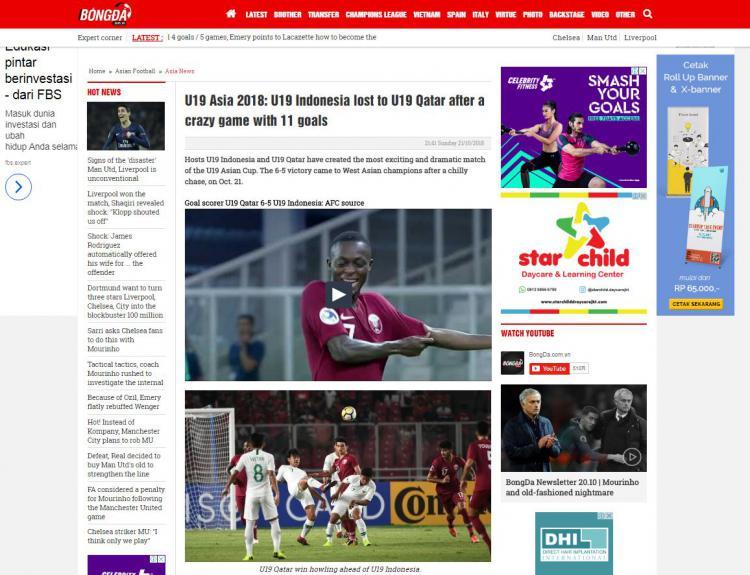 Media Vietnam sebut Laga Timnas U-19 vs Qatar pertandingan gila. Copyright: Bongda.com.vn