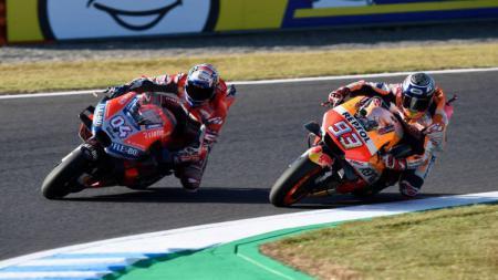 Marc Marquez dan Andrea Dovisiozo di Sirkuit Motegi, Jepang - INDOSPORT