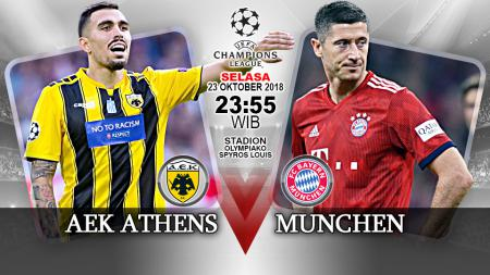 AEK Athens vs Bayern Munchen. - INDOSPORT