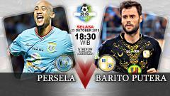Indosport - Persela Lamongan vs Barito Putera.