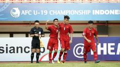 Indosport - Vietnam vs Australia di Piala Asia U-19 2018.