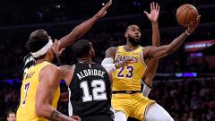 Indosport - LA Lakers vs San Antonio Spurs.