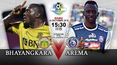 Indosport - Pertandingan Bhayangkara FC vs Arema FC