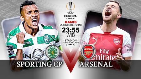 Pertandingan Sporting CP vs Arsenal. - INDOSPORT