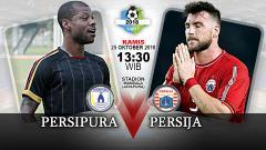 Indosport - Pertandingan Persipura Jayapura vs Persija Jakarta.