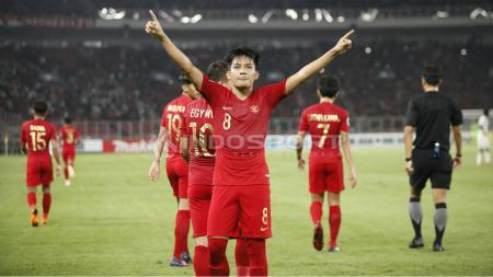 Witan Sulaiman selebrasi di laga Timnas Indonesia U-19 vs UEA U-19. - INDOSPORT