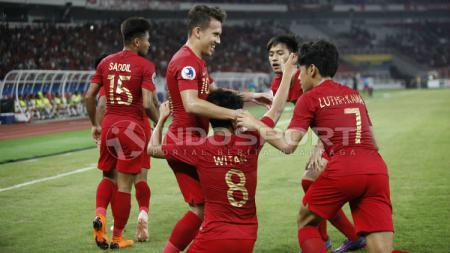 Selebrasi Timnas Indonesia U-19. - INDOSPORT