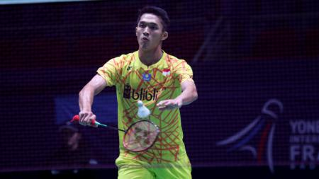 Jonatan Christie di French Open 2018. - INDOSPORT