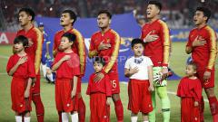Indosport - Timnas indonesia U-19 jelang melawan UEA U-19 di Piala Asia 2018.
