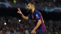 Indosport - Jordi Alba menggandakan keunggulan Barcelona atas Inter Milan, 2-0.