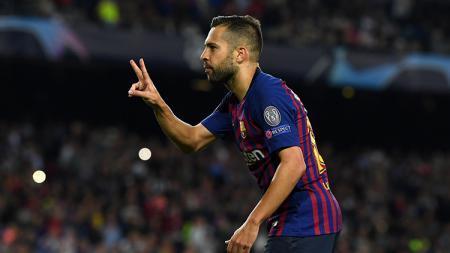 Jordi Alba disebut-sebut sebagai biang keladi kekalahan Barcelona atas Liverpool pada semifinal Liga Champions 2018/19 (8/5/19). - INDOSPORT