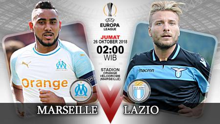 Pertandingan Marseille vs Lazio. - INDOSPORT